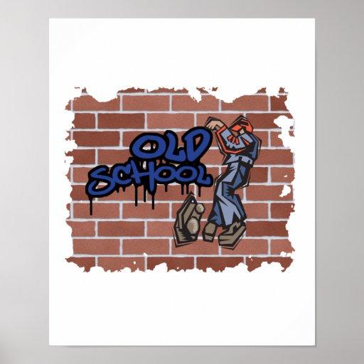 old school graffiti  design posters