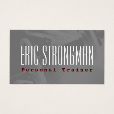 Beach Themed Old school gym cover fitness style business card
