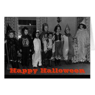 Old School Halloween Card