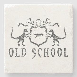 Old School Heraldic Dinosaur Stone Coaster