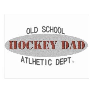 OLD SCHOOL HOCKEY DAD POSTCARD