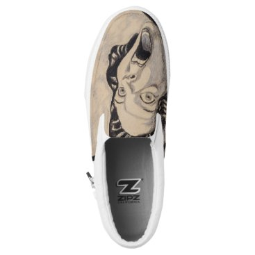 Beach Themed Old School Horror Slip-On Sneakers
