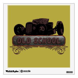 Old School Hot Rod Wall Sticker