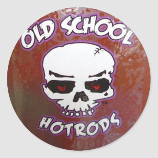 Old School Hot Rods Classic Round Sticker