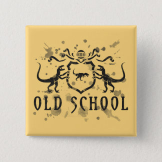 Old School Ink Dinosaur Pinback Button