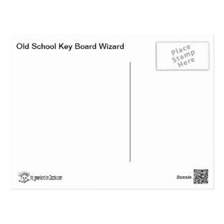 Old School... key board wizard Postcard