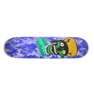 old school military blue skateboards