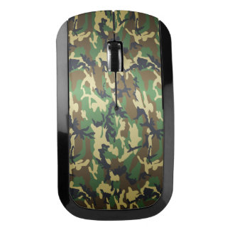 Old School Military Woodland Camo Camouflage Wireless Mouse