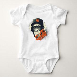 Old school monkey baby bodysuit