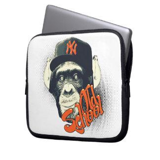Old school monkey laptop computer sleeve