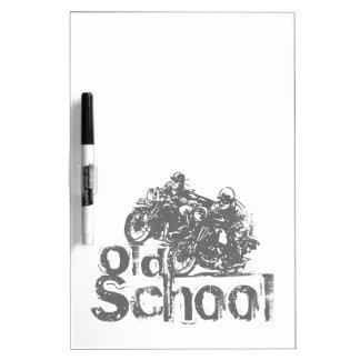 Old School Motorcycle Racing Dry-Erase Board