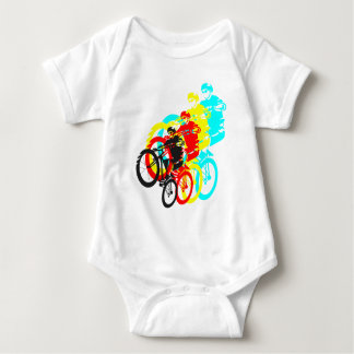 Old school MTB / Trials bike wheelie Baby Bodysuit