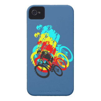 Old school MTB Trials bike wheelie iPhone 4 Cover