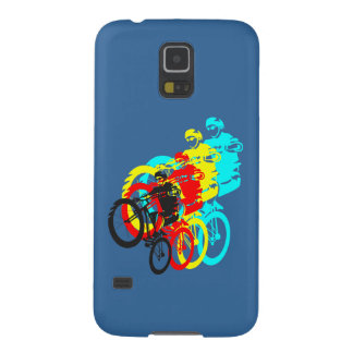 Old school MTB / Trials bike wheelie Case For Galaxy S5
