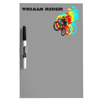 Old school MTB / Trials bike wheelie Dry Erase Board