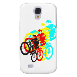 Old school MTB / Trials bike wheelie Galaxy S4 Case