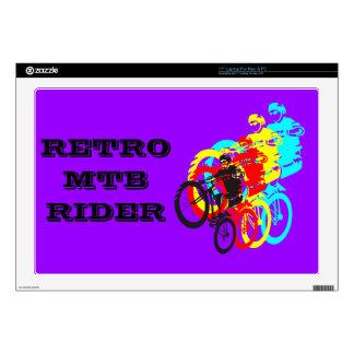 "Old school MTB / Trials bike wheelie Skin For 17"" Laptop"