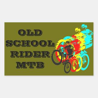 Old school MTB Trials bike wheelie Stickers
