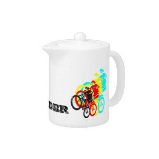 Old school MTB / Trials bike wheelie Teapot