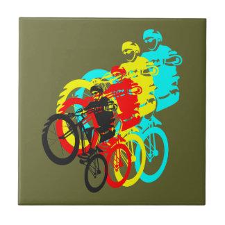 Old school MTB / Trials bike wheelie Tile