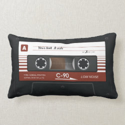 Old School Music Cassette Mix Tape Pillow