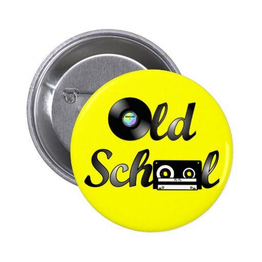 Old School Music Media Round (Yellow) 2 Inch Round Button