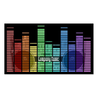Old School Music Style  Equalizers Business Card Template