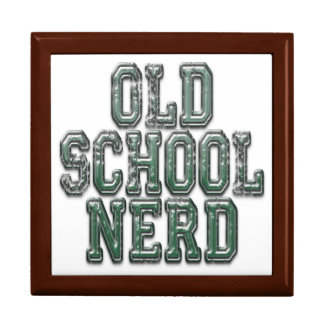 Old School Nerd Green Keepsake Box