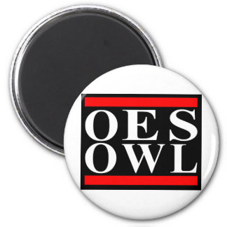Old School OES OWL design 2 Inch Round Magnet