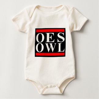 Old School OES OWL design Baby Bodysuit