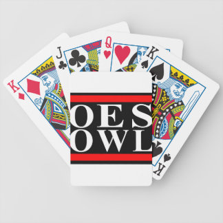Old School OES OWL design Bicycle Playing Cards
