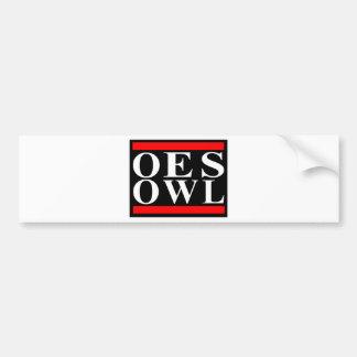 Old School OES OWL design Bumper Sticker