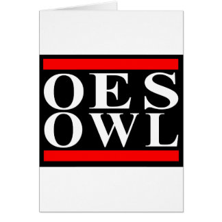 Old School OES OWL design Card