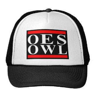Old School OES OWL design Mesh Hats