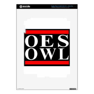 Old School OES OWL design iPad 3 Skin