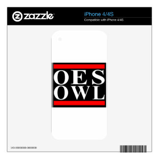 Old School OES OWL design iPhone 4 Decals