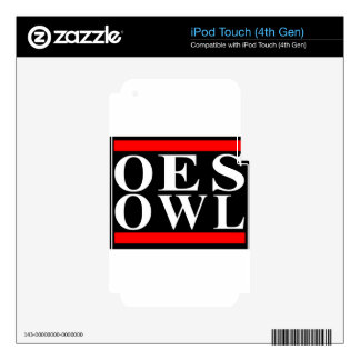 Old School OES OWL design iPod Touch 4G Skins