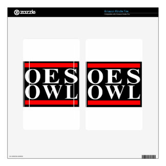Old School OES OWL design Kindle Fire Skin
