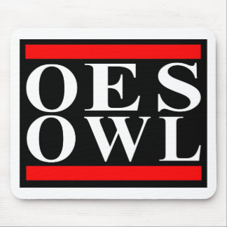 Old School OES OWL design Mouse Pad