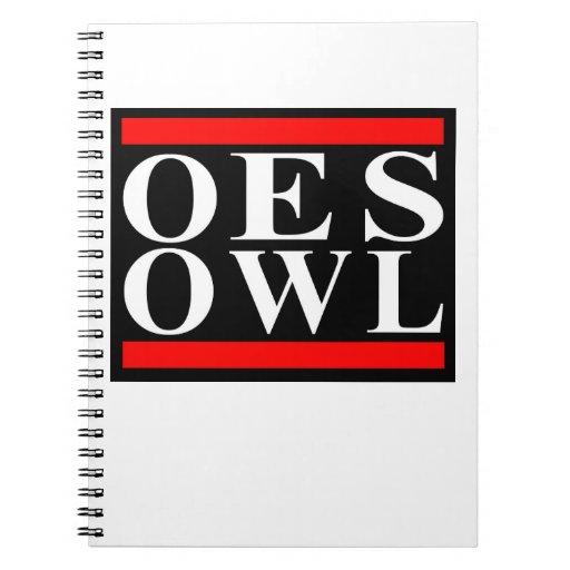 Old School OES Owl Notebook