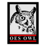 Old School Owl poster