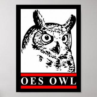 Old School Owl poster
