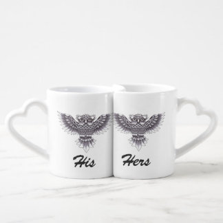 Old School Owl Tattoo Design Coffee Mug Set