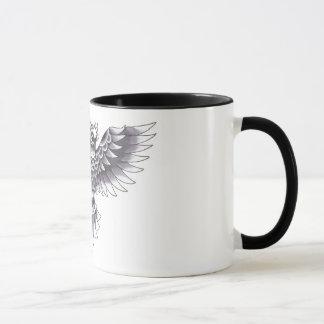 Old School Owl Tattoo Design Mug