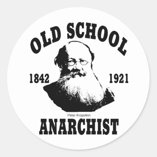 Old School  --  Peter Kropotkin Round Sticker