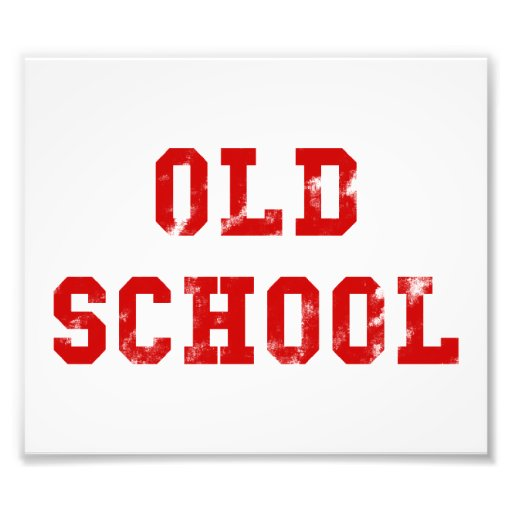Old School Photo Print