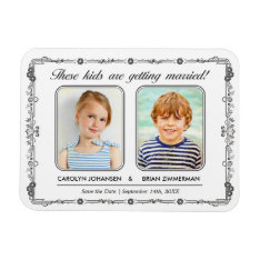 Old School Photo Save The Date Magnet at Zazzle
