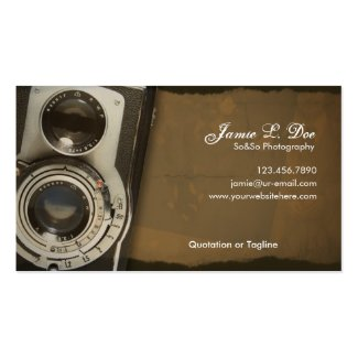 Old School Photography Business Card