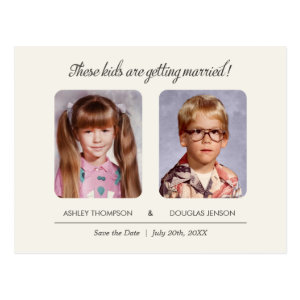 Old School Photos Save the Date Postcard