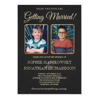 Old School Photos Wedding Invitation
